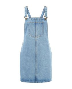 Blue Vanilla Blue Pocket Front Dungaree Dress | New Look