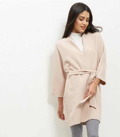 Pink Belted Kimono Jacket  | New Look