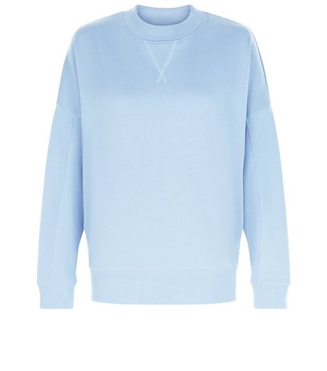 Blue Balloon Sleeve Sweater  | New Look