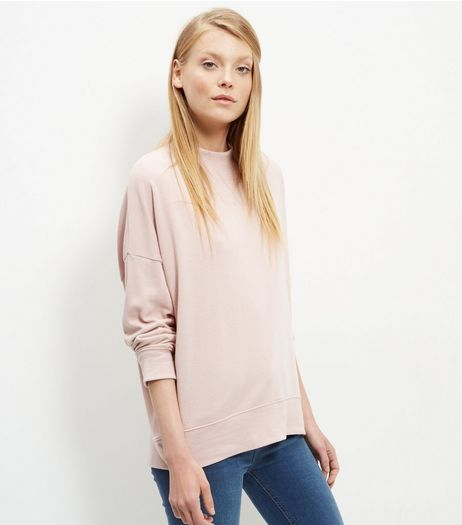 Shell Pink Balloon Sleeve Sweater  | New Look