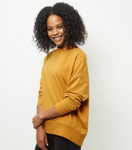 Yellow Balloon Sleeve Sweater | New Look