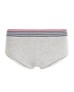 Grey Stripe Hem Short Briefs | New Look