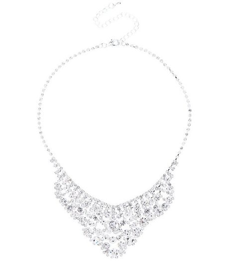 Crystal Stone Bib Necklace | New Look