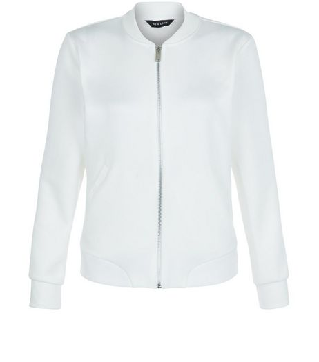 White Scuba Bomber Jacket | New Look