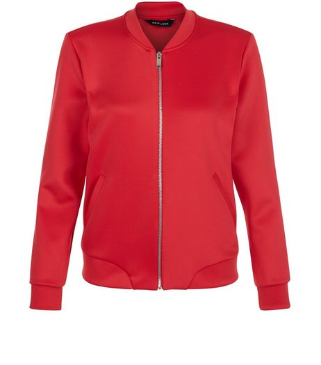 Red Scuba Bomber Jacket | New Look