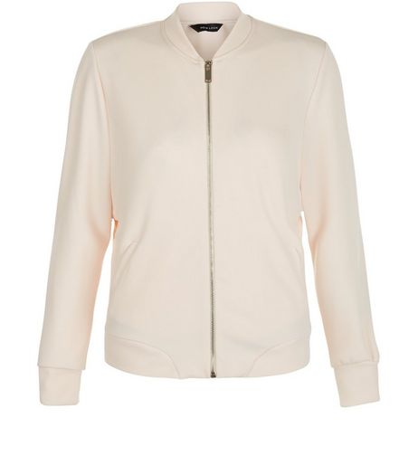 Shell Pink Scuba Bomber Jacket | New Look