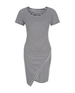 JDY Grey Stripe Wrap Dress | New Look