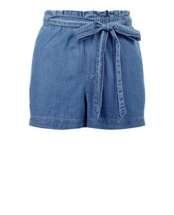 JDY Blue Belted Shorts | New Look