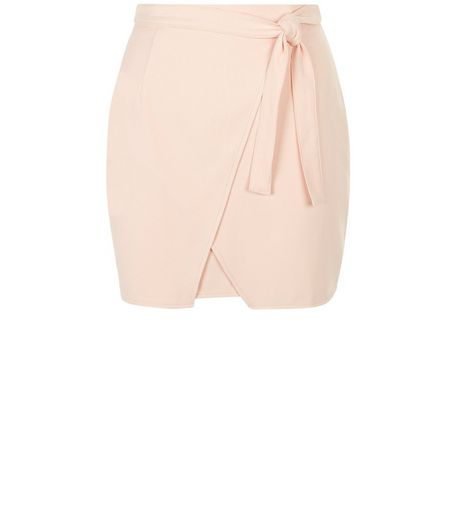Teens Shell Pink Wrap Skirt | New Look