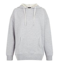 Grey Oversized Slouch Hoodie  | New Look