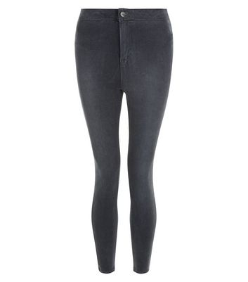 Petite Grey High Waist Super Skinny Jeans