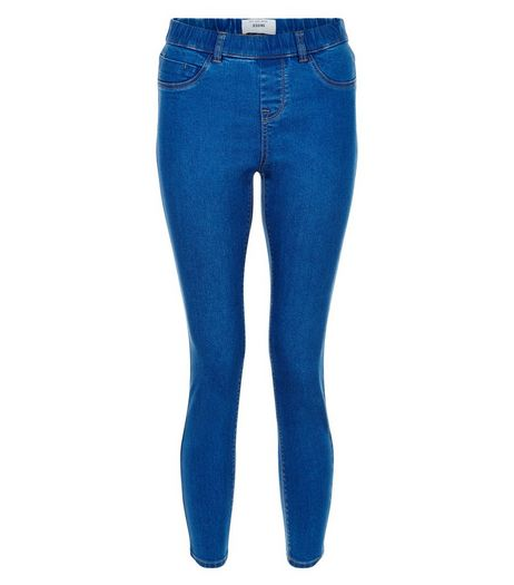 Petite 28in Blue Jeggings | New Look