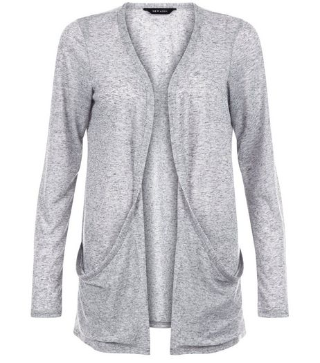 Grey Double Pocket Boyfriend Cardigan | New Look