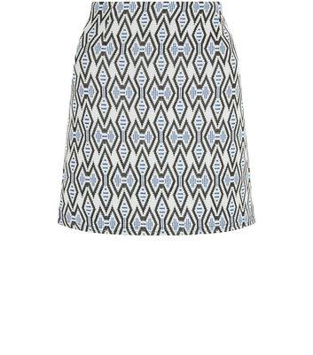 Gonna  donna Blue Tribal Print Jacquard A-Line Skirt