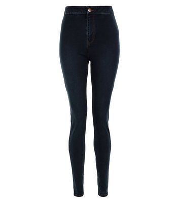 Tall 36in Navy High Waist Super Skinny Jeans