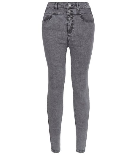 Tall 36in Grey High Waisted Skinny Jeans | New Look