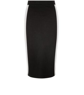 Gonna  donna Black Stripe Side Pencil Skirt