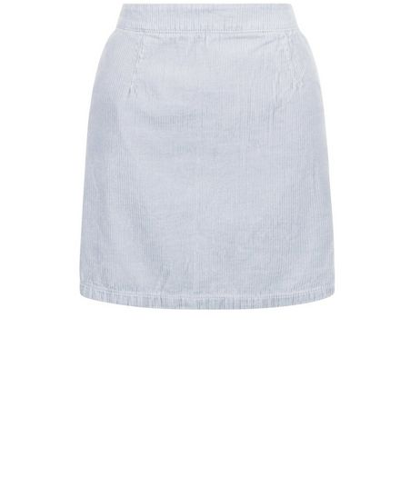 Grey Cord A-Line Skirt  | New Look