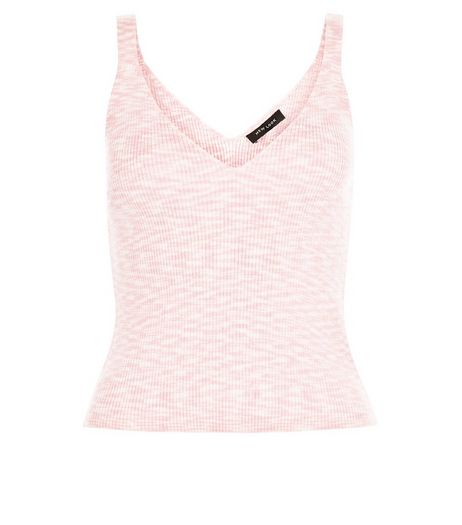Bright Pink Twisted Yarn Crop Top  | New Look