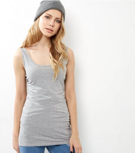 Light Grey Longline Vest | New Look