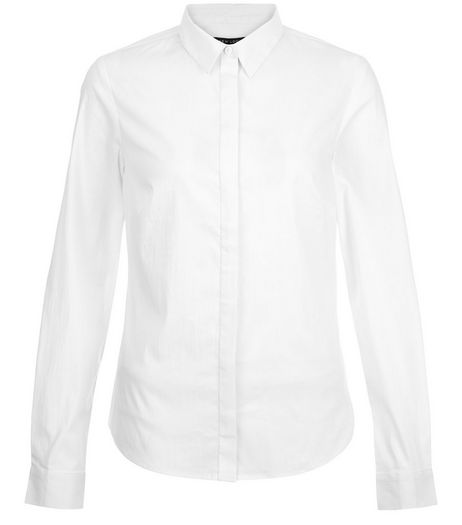 Tall White Long Sleeve Shirt | New Look