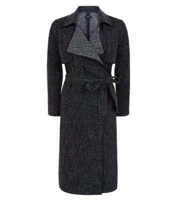 Petite Black Waterful Duster Coat