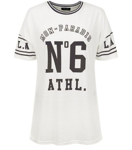 Cream No6 Athl Varsity T-Shirt  | New Look