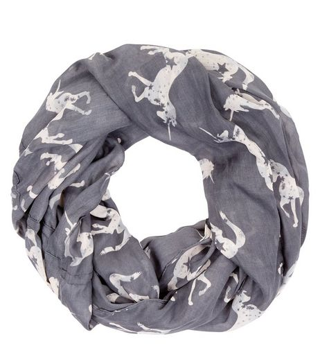 Pale Grey Unicorn Print Snood | New Look