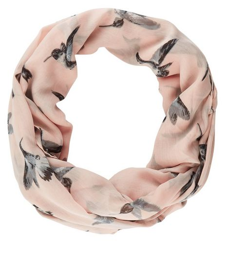 Pink Swallow Print Snood | New Look