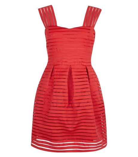 AX Paris Red Stripe Skater Dress | New Look
