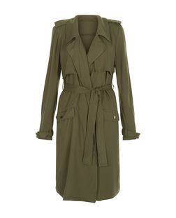 Anita and Green Khaki Belted Trench Coat | New Look