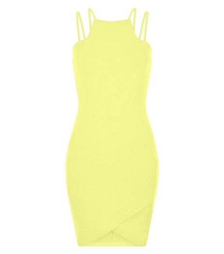 AX Paris Yellow Strappy Bodycon Dress | New Look