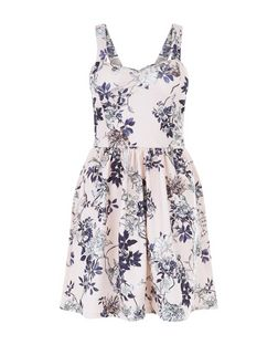 Cameo Rose Floral Print Bustier Dress  | New Look