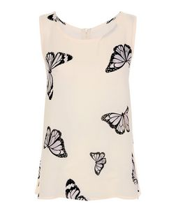 Cameo Rose Shell Pink Butterfly Print Vest | New Look