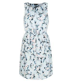 Tall blue floral print sleeveless dress for Tall sleeveless t shirts