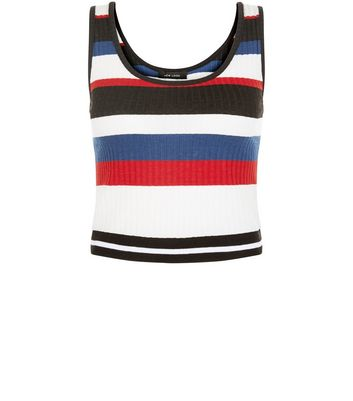 Multicoloured Fine Knit Cropped Vest