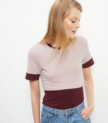 burgundy-colour-block-t-shirt