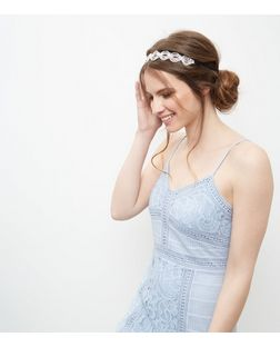 Crystal Diamante Cross Over Headband | New Look