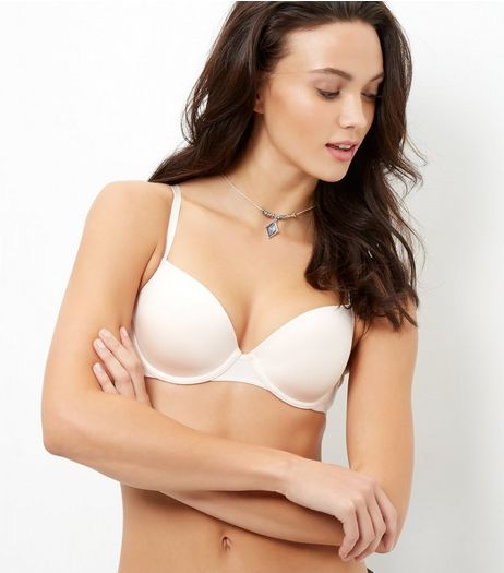 Stone Microfibre T-Shirt Bra | New Look