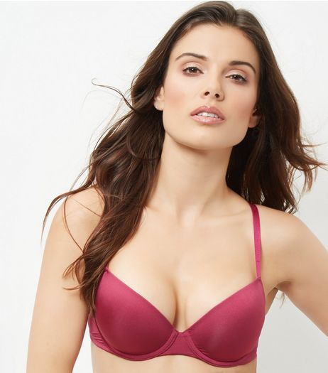 Deep Pink Microfibre T-Shirt Bra | New Look