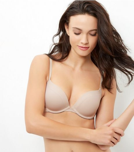 Stone Microfibre Push Up Bra | New Look
