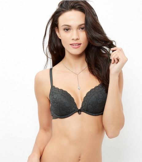 Khaki Lace Push Up Bra | New Look