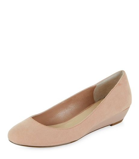 Pink Comfort Suedette Wedge Pumps  | New Look