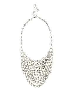Silver Chain Drape Necklace | New Look