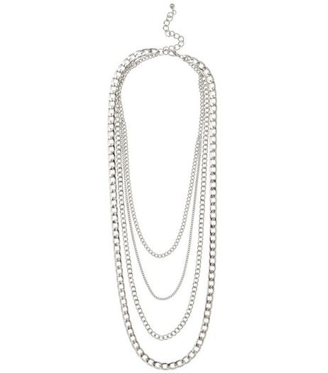 Silver Layered Chain Necklace | New Look