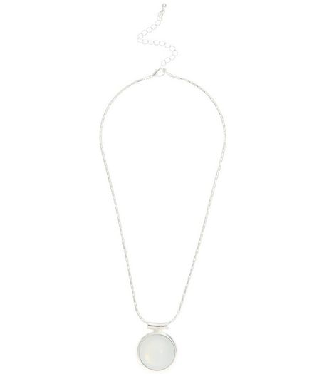 White Stone Necklace | New Look