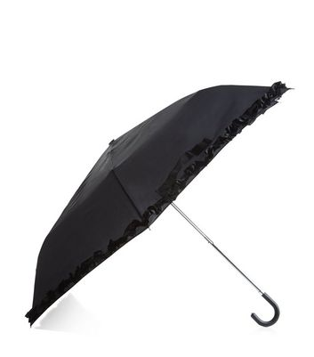 black-frill-trim-umbrella