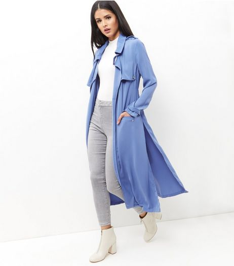 Anita and Green Blue Belted Longline Trench Coat | New Look
