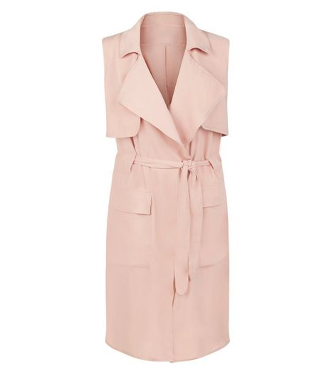 Anita and Green Pink Sleeveless Trench Coat | New Look