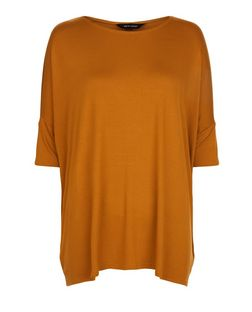 Tan Oversized 1/2 Sleeve Top | New Look